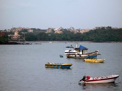 Water sports in Mandovi River