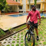 @instagram: #Life is like riding a bicycle,to stay balanced you must keep moving#bicyle#Reducestress#NoNoisePollution##Morjim#Siolim#Ambergarden