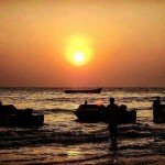 baga india goa beach sunset