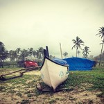 @instagram: #fishingboats #majorda #goal #monsoonrains #travels #india
