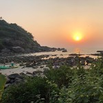 palolem india goa beach sunset