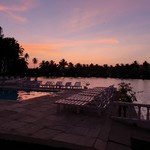 @instagram: Sunsets????#resortemarinhadourada #resortemarinhadourada#marinhadourada#sunset#serene#lake#sky#arpora#goa