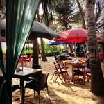 @instagram: Sand, shadows, and señoritas! ???????????????? . . #goa #ashvembeach #ashvem #morjim #sand #beach #beachshack #french