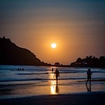 palolem goa beach sunset