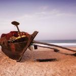 @instagram: Morgonen gryr!  #indien #india #goa #betalbatim #boat #sunrise #soluppgång #fishingboat #båt