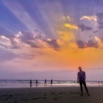 morjim goa beach sunset