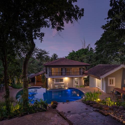 Luxury villa in Anjuna, Goa with private swimming pool