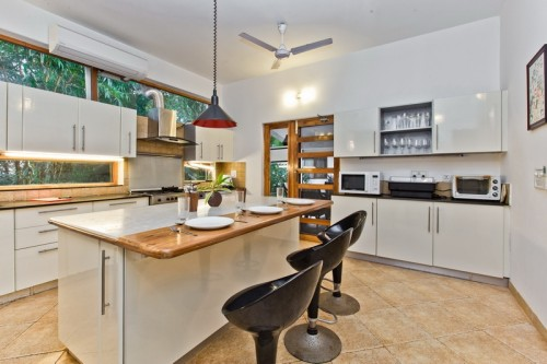 Modern kitchen with Oven, Microwave, Toaster & etc