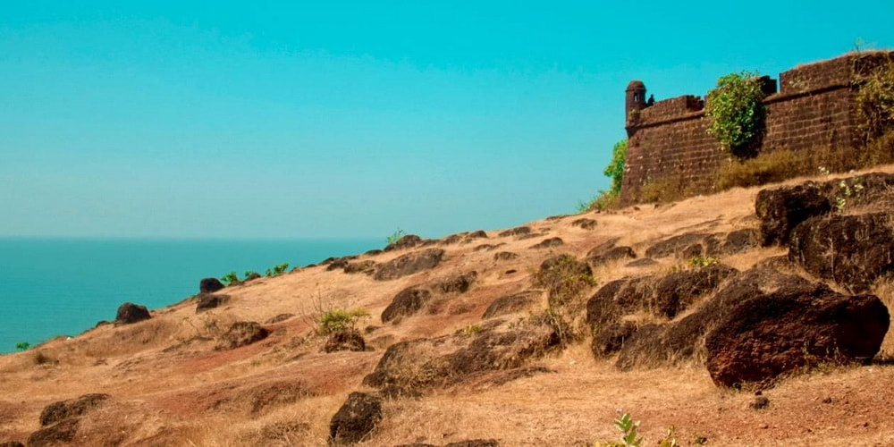 Chapora Fort in North Goa on Chapora River