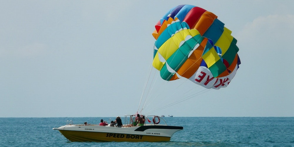 Parasailing in South Goa