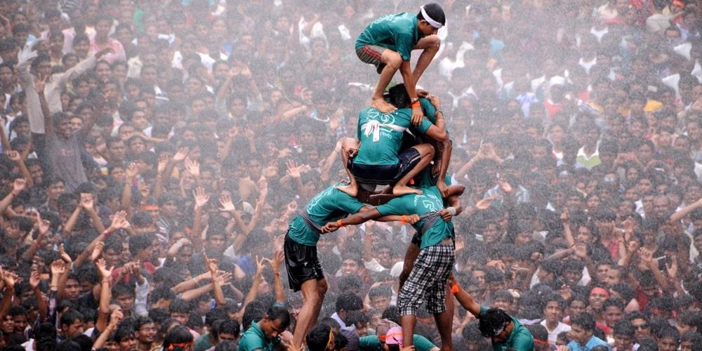 Holi Matka: Matki fod or matki breaking celebration