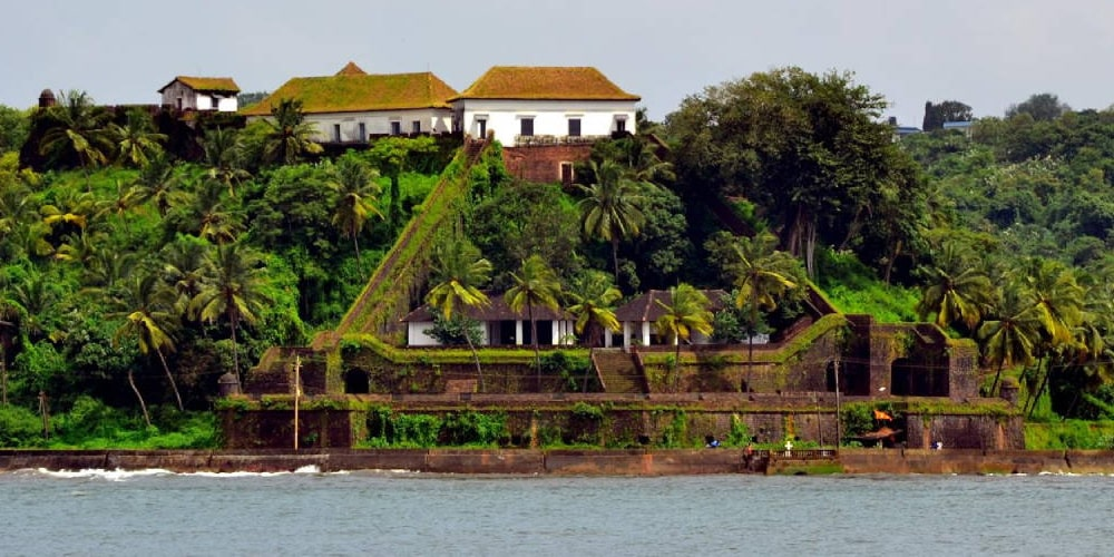 Reis Magos Fort in North Goa on Mandovi River